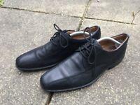 Hardly Worn Mens Mans Black Formal UK size 9 Clarks Shoes - Cushion Plus - Excellent Condition - £20