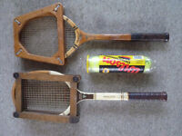 2 Vintage tennis racquets