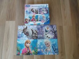 DISNEY FROZEN RAVENSBURGER PUZZLE 4 IN A BOX JIGSAW PUZZLES