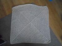 New Hand Made Cream Crochet Baby Blanket