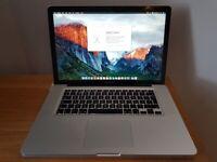 Macbook Pro 15 inch laptop Intel 2.8ghz Core 2 duo processor 8gb ram memory with backlit keyboard