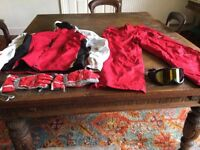 Man's Ski Jacket, trousers and gloves size M