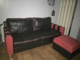 2 seater and foot cushion