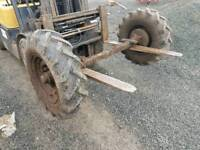 3ton tractor tipping trailer axle with wheels and tyres