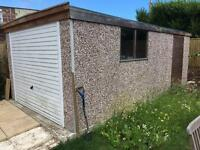 10x18 concrete sectional garage