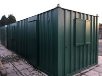 40ft shipping container office/office, wind and water tight, windows all round 2 personal doors,