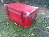 red storage box retro style