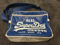 Genuine Superdry leather style bag - blue