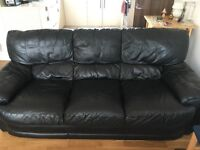 Sale!Beautiful black 3 seater sofa must go by Thursday!!!!