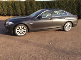 BMW 520d Auto, xirilic grey with cream leather, heated seats, power folding mirrors, lumber support