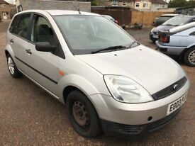 Ford Fiesta LX TDCI 1399cc Turbo Diesel 5 speed manual 5 door hatchback 03 Plate 07/03/2003 Silver
