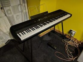 Korg SP280 digital Piano. HAPPY TO POST. With piano stand, sustain pedal, music stand, original box.