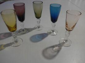 Vintage Coloured Glass.