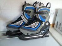 Blue B SQUARE Ladies adjustable size ice skates (sizes UK 4-6)