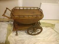 Vintage 1920,s oak servants tea trolley