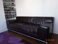 2 Ikea Large Leather Sofas. £40 for both