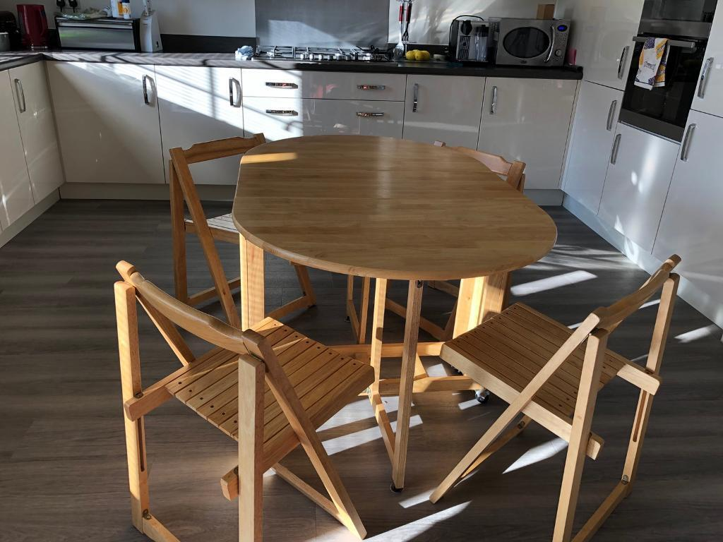 0d7f3926478 John Lewis Folding Table and 4 chairs