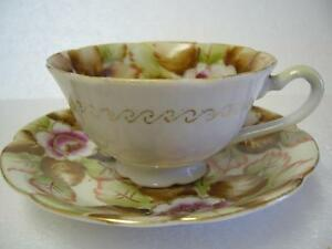 SHAFFORD CUP 'N SAUCER HAND PAINTED