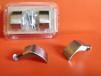 SILVER DRAWER HANDLE PULL HOOKS