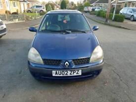 2002 Renault Clio Expression 16v 3 door hatchback 1149cc petrol