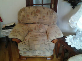PRICE REDUCED QUICK SALE - 3 Piece Suite with 1 Electric Reclining Armchair