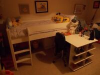 Childrens Cabin Bed and extendable desk
