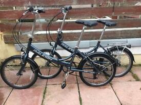 Raliegh evo 7sp fold up bikes x2 bikes £130 pair