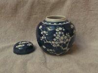Blue ceramic pot and cream/white ceramic pot - glass three legged cream/milk jug (OFFERS)