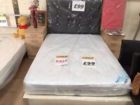 ***£99***BARGAIN*****NEW DOUBLE BED DIVAN BASE AND A NEW MATTRESS COMPLETE FOR ONLY ***£99***