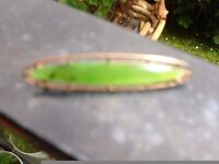 Beautiful 9ct Gold Jade Brooch