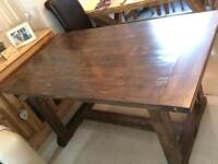 New handmade dining table with storage drawers