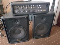 Squier 4-Channel PA System - Amplifier and Speakers