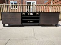 IKEA - Black BESTA TV bench unit / stand with brown Inviken drawers. Great condition, 8 months old.
