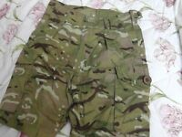 army shorts in mtp camo.