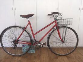 Ladies Bike, 531, wald basket, brooks saddle.