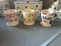 Emma bridgewater half pint mugs.
