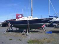 Sailing yacht 32 feet GRP beautiful lines 5 berth diesel red sails