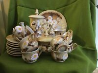 Attractive pottery coffee set in perfect condition