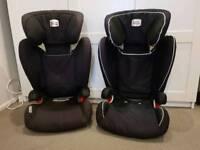 Pair of Britax ISOFIX car seats