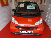 STUNNING SMART FORTWO AUTO 999CC, DRIVES A1 WITH SAT NAV ,FREE MOTS ,FULL SERVICE HISTORY ,WARRANTY