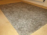 John Lewis high/long pile grey rug 180cm x 120cm like new