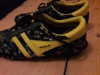 Vintage embroided gola trainers size 6.5