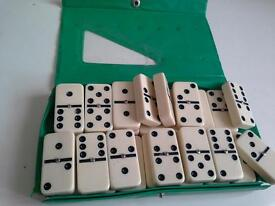 Double six Dominoes 28 pcs with case- very good condition # see image