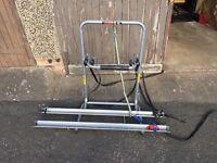 Avenir bike rack- spare wheel mounted