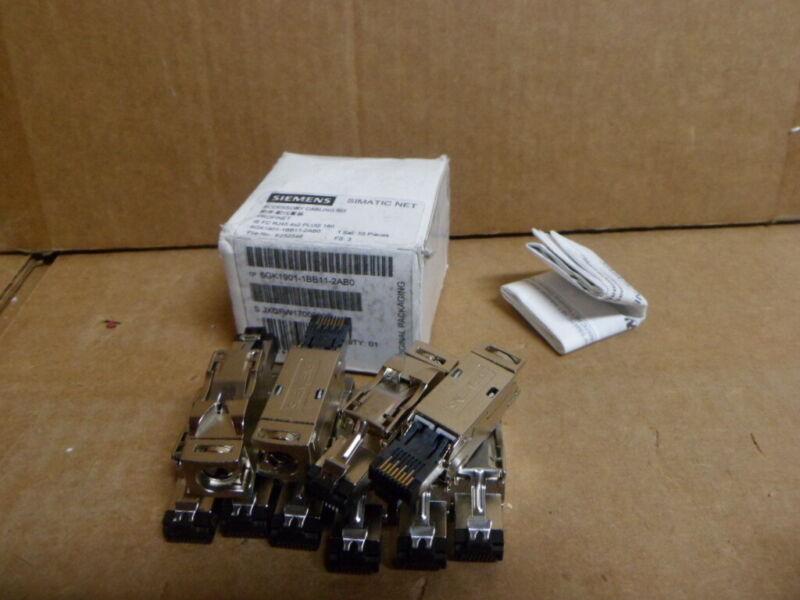 10pk Siemens Simatic Ethernet RJ45 4x2 Plug 180 6GK19011BB112AB0