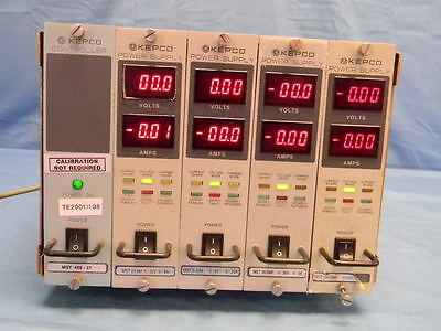 Kepco Mst Mainframe And 4 Dc Supply Modules Various Volts And Amps