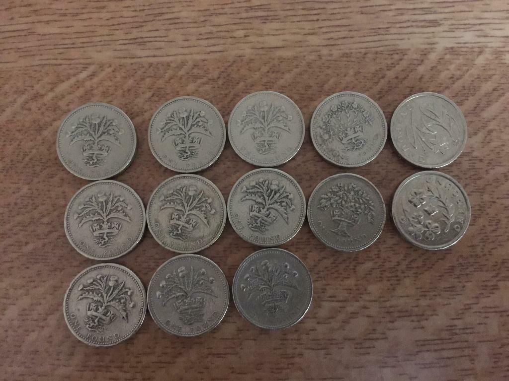 👀VERY RARE 👀 £1 Pound coins 13 in Total