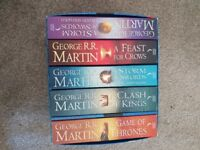 Game of thrones collection books 1-5 like new