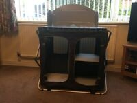 Kitchen Larder and Storage Unit with Windshield for camping/caravan