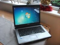 TOSHIBA SATELLITE L300 WINDOWS 7 LAPTOP WITH OFFICE INSTALLED BARGAIN